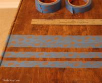 Measure with a ruler to make sure stripes are straight