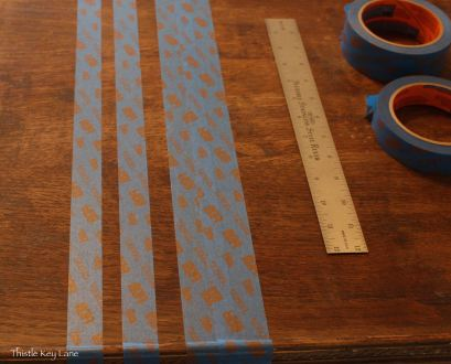 Create stripes with painters tape