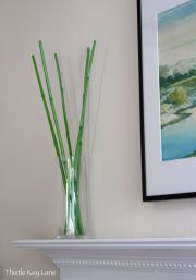 Painted bamboo for the mantle