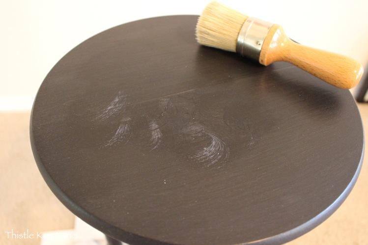 Miss Mustard Seed's Furniture Wax application