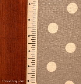 Toile ribbon that looks like a measuring tape