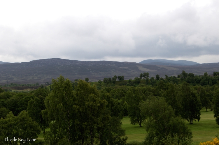 View from the village at the Highland Folk Museum