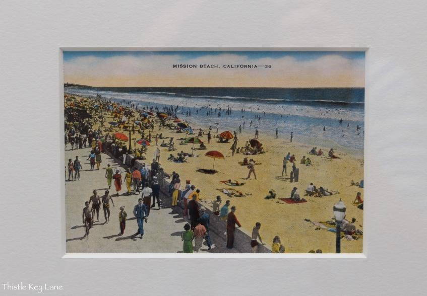 Post Card Mission Beach, CA 1936