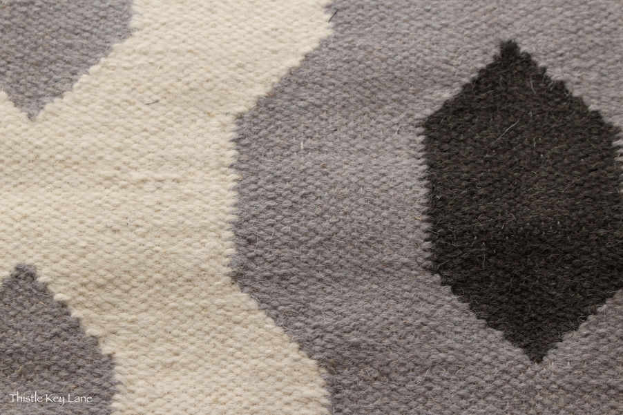 Wool Rug in Gray and Ink