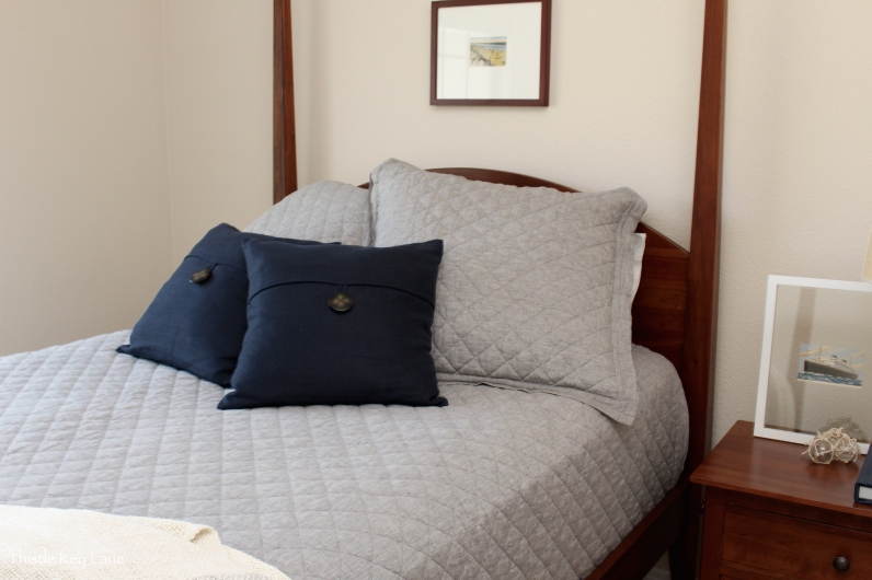 Gray area guest room