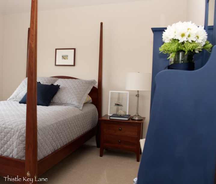 View of the guest room from the door