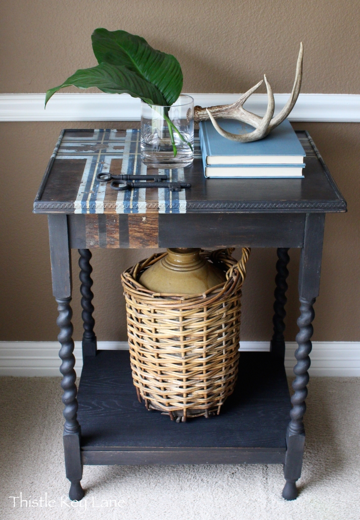 Plaid table top