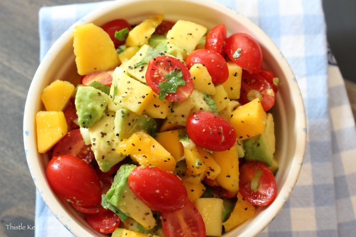 Beautiful colors of the Mango Salad