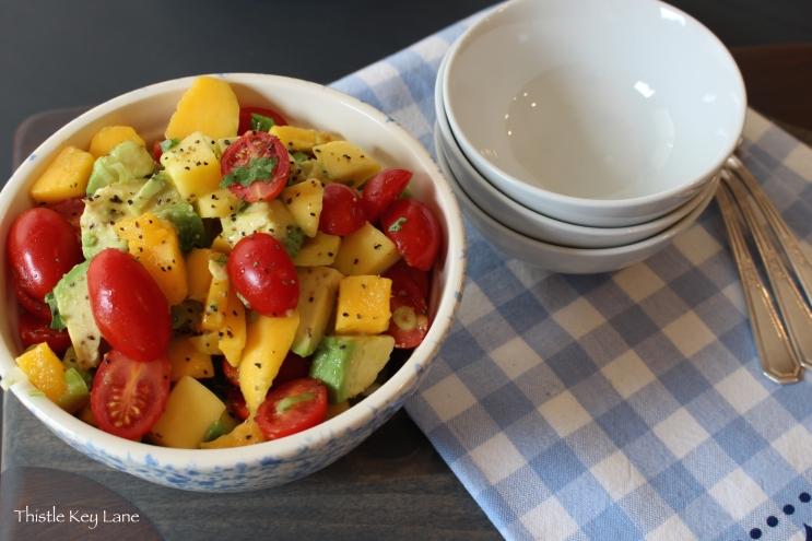 Quick and easy recipe, Mango Salad