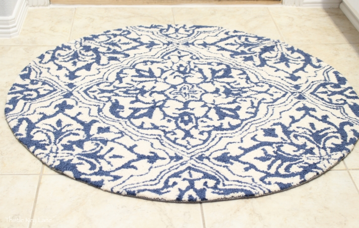 Pretty rug for the laundry room