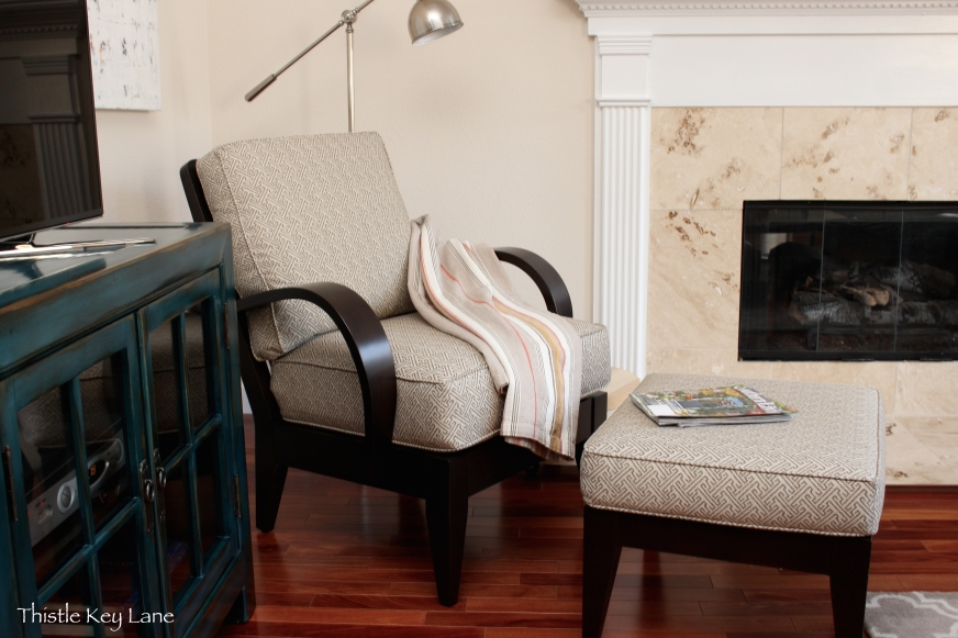 Inviting fall shades and one of my favorite chairs