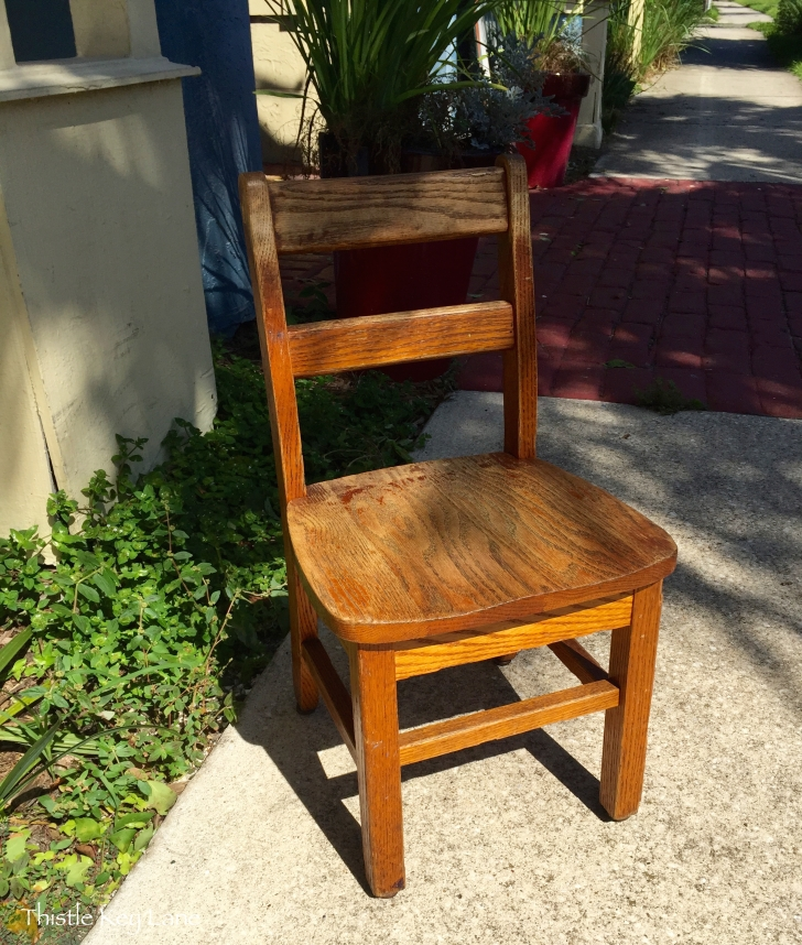 Oak chair found at the Pickers Market