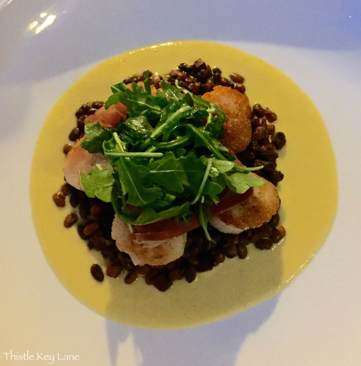 29 South - From the menu Seared Scallops with red peas