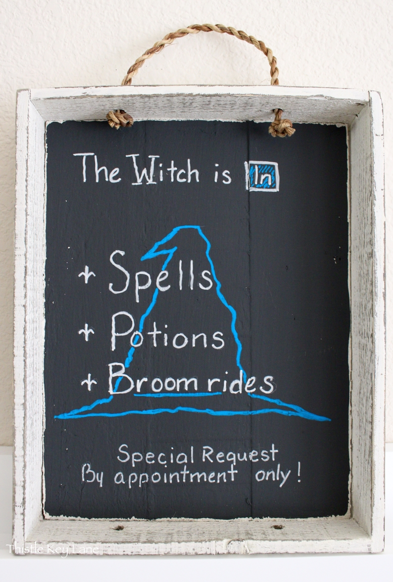 Halloween Chalk Board, The Witch is In