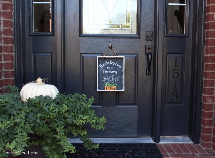 Halloween Chalk Board for the front door