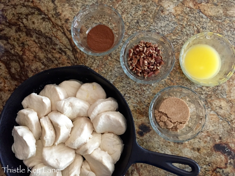 Biscuits and a few ingredients