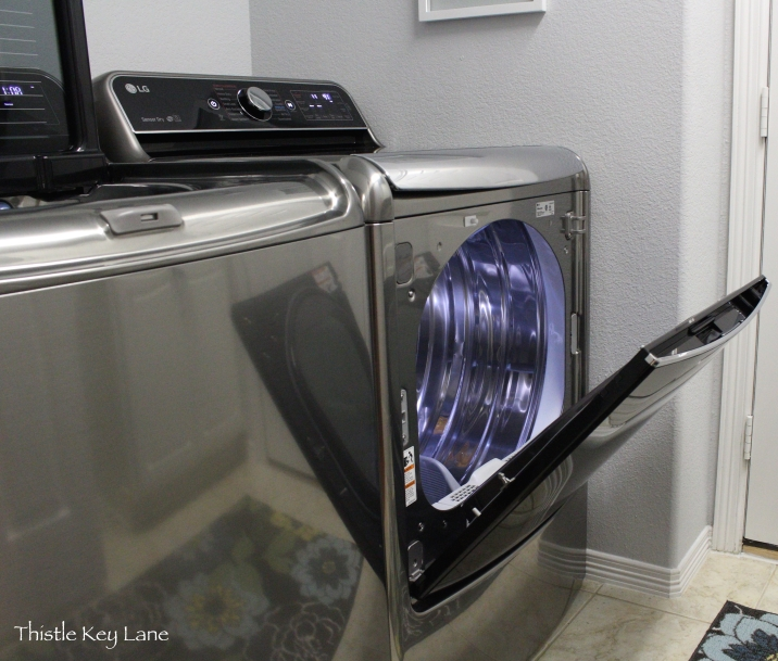Tilt open door on the dryer