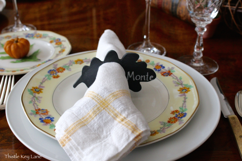 Personalize napkin ring