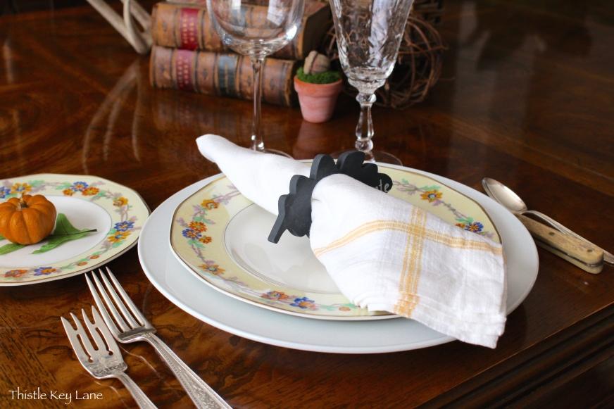 Thanksgiving table setting ideas.