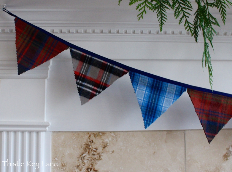 Plaid bunting inspired from 58 Water Street