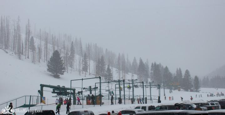 Chairlift running at Ski Apache