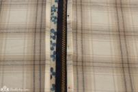 Pin zipper in place and stitch