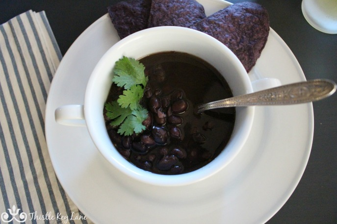 Blue Corn chips with soup