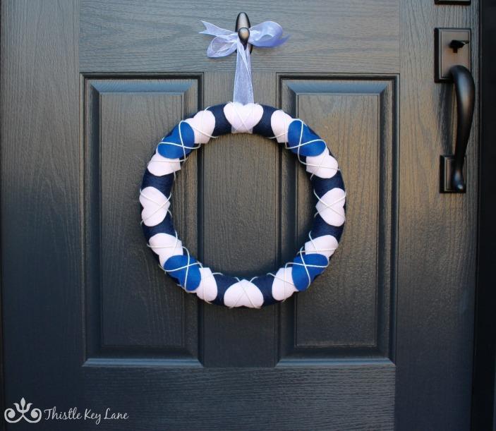 Wreath with a bow
