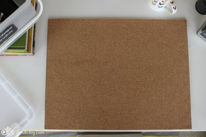 Cork writing surface