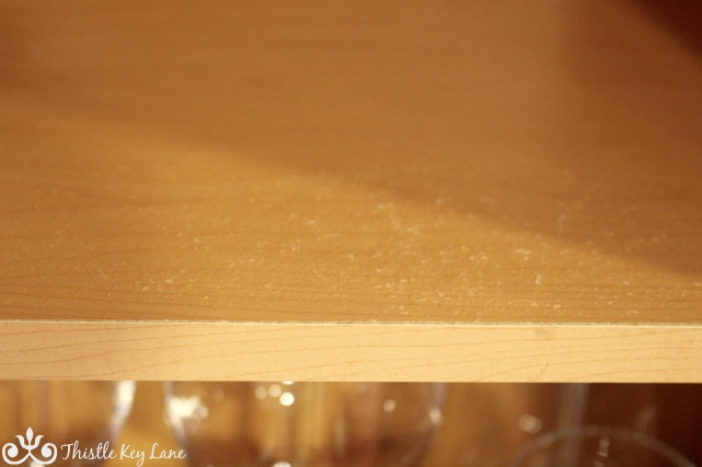 Water damaged shelf