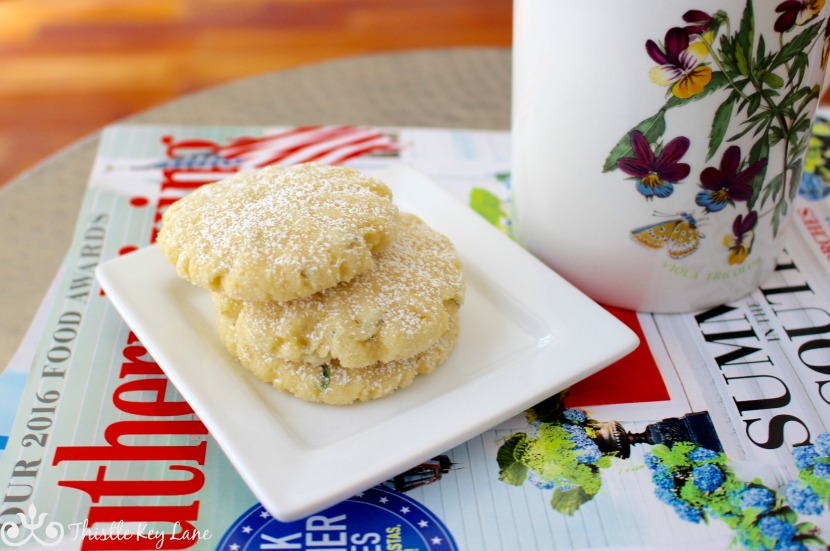 Coffee Break and Lemon Thyme Cookies