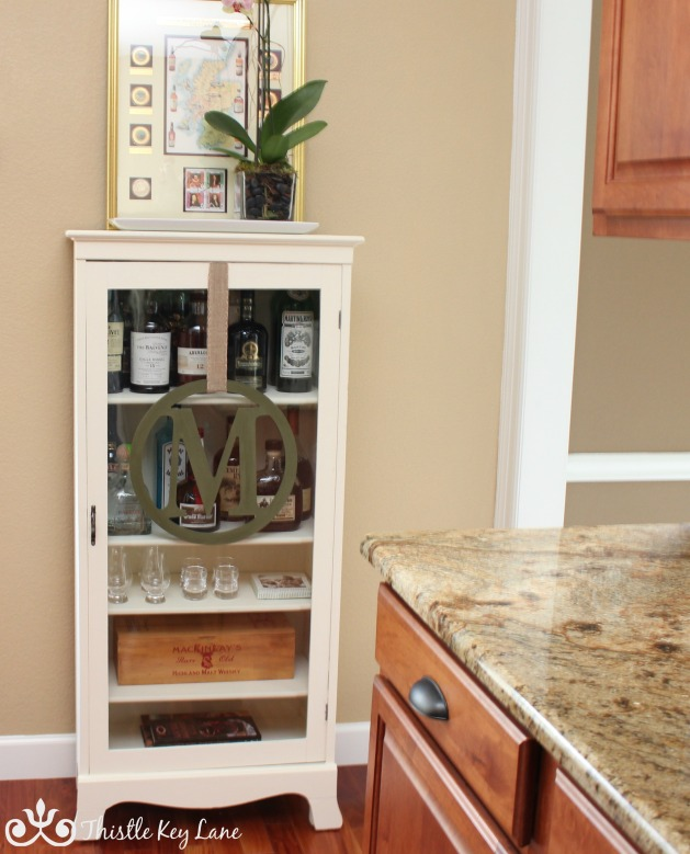 Curio Cabinet Converted to Liquor Cabinet