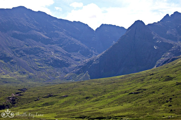 Cuillin Mountains above the fairy pools