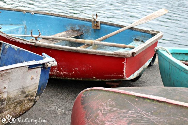 Row boats on the dock, Portree