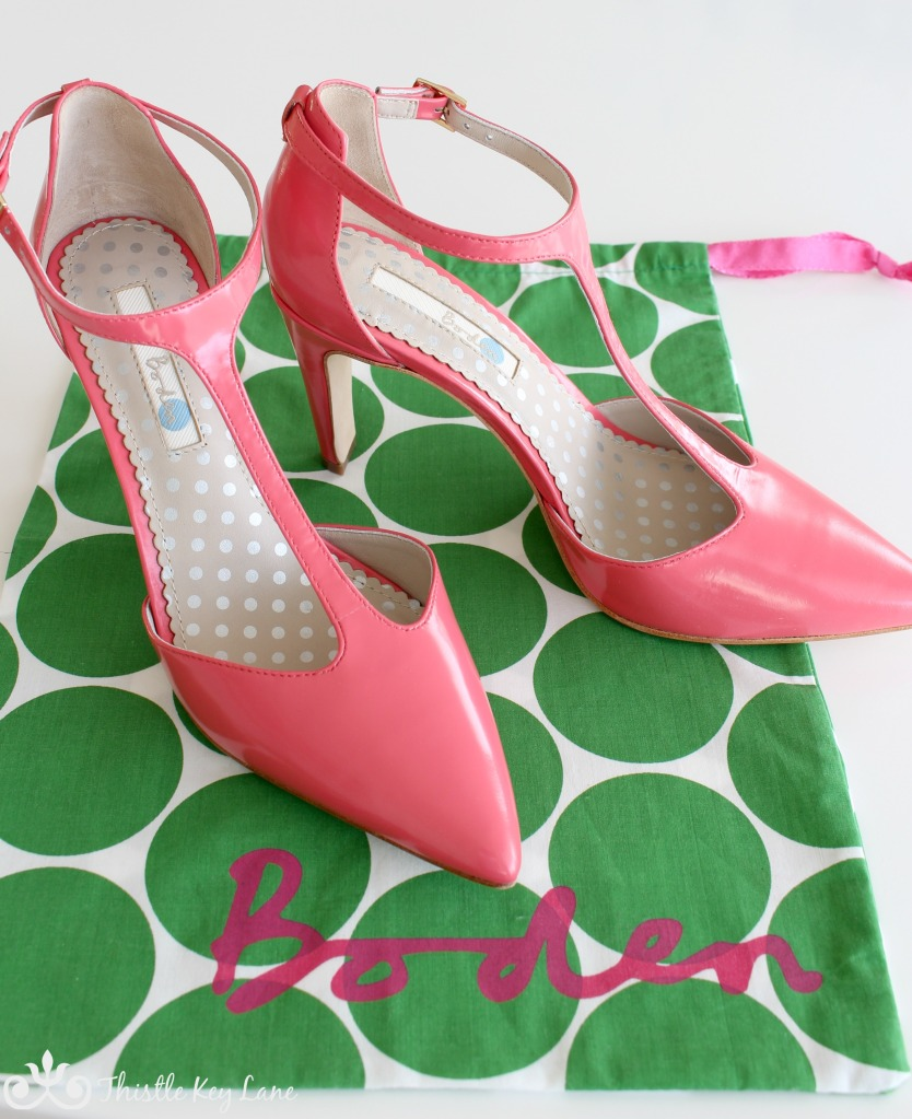 Boden Shoes and Shoe Bag