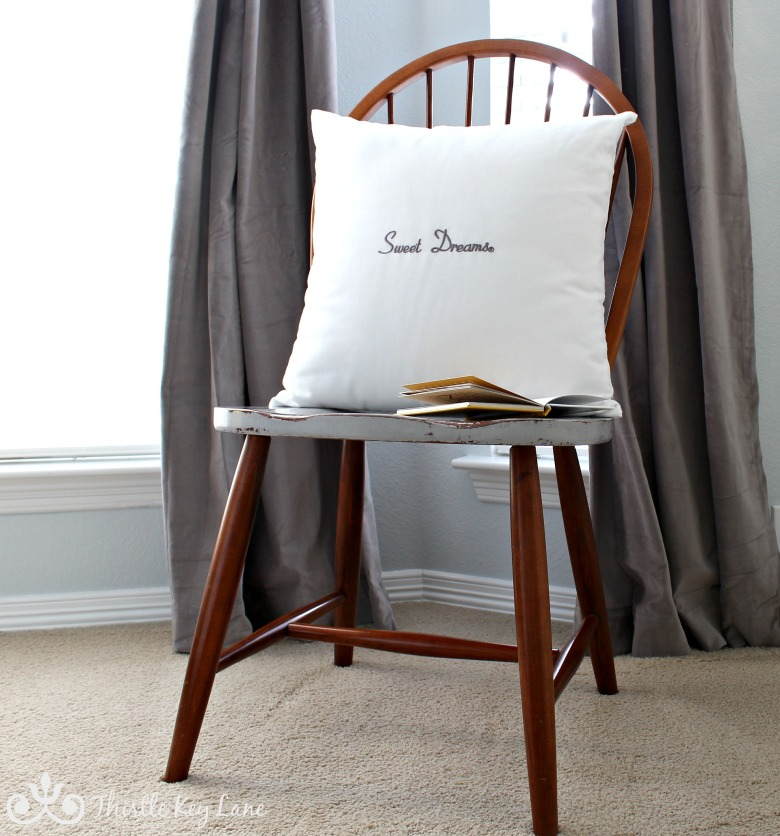 Windsor chair with aged seat