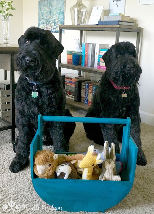 Huge Wooden Doggie Toy Box