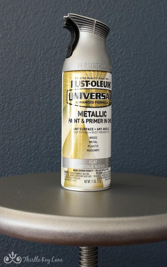 Rust-Oleum Antique Nickel on bar stools