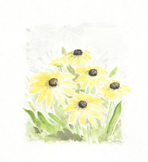 Spring Flower Watercolor Free Printable