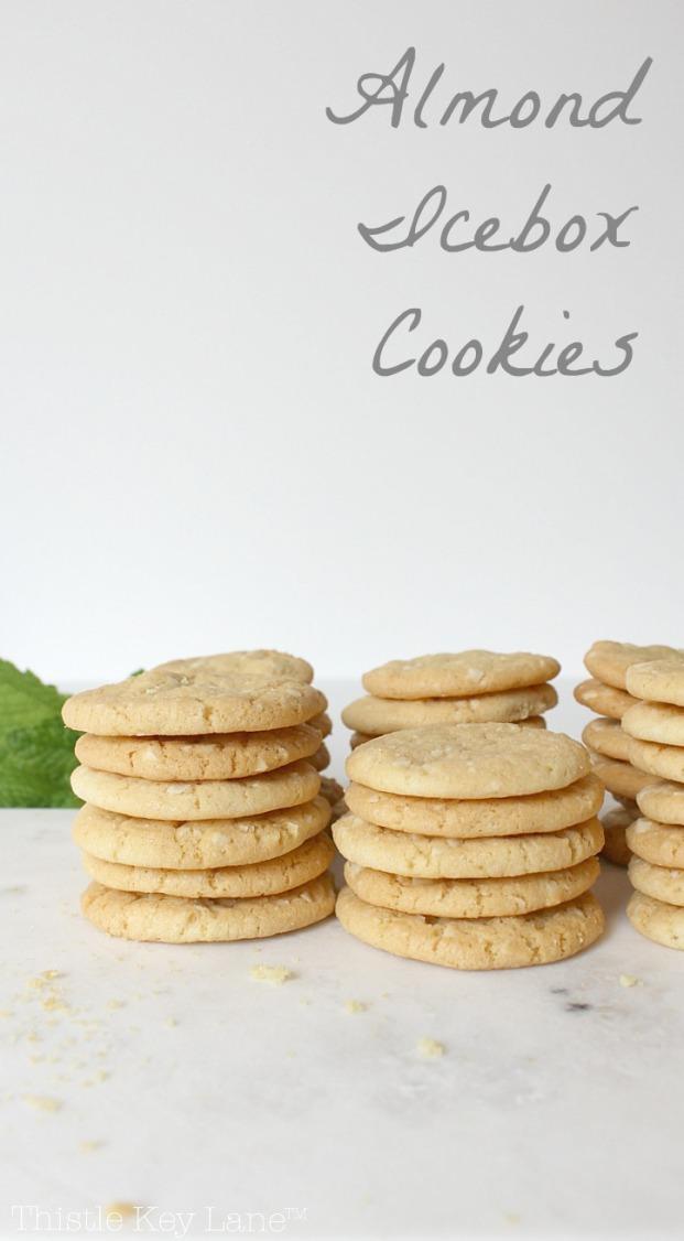Almond Icebox Cookie Recipe | Thistle Key Lane