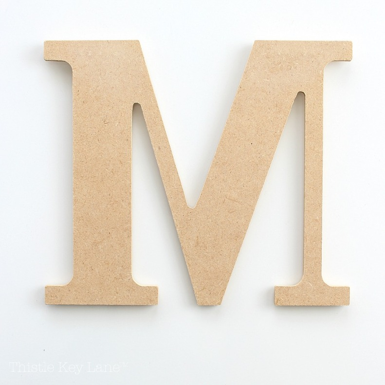 Wall Organizer Using A Letter