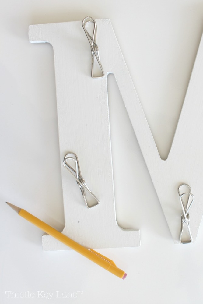 Wall Organizer With Clothespins