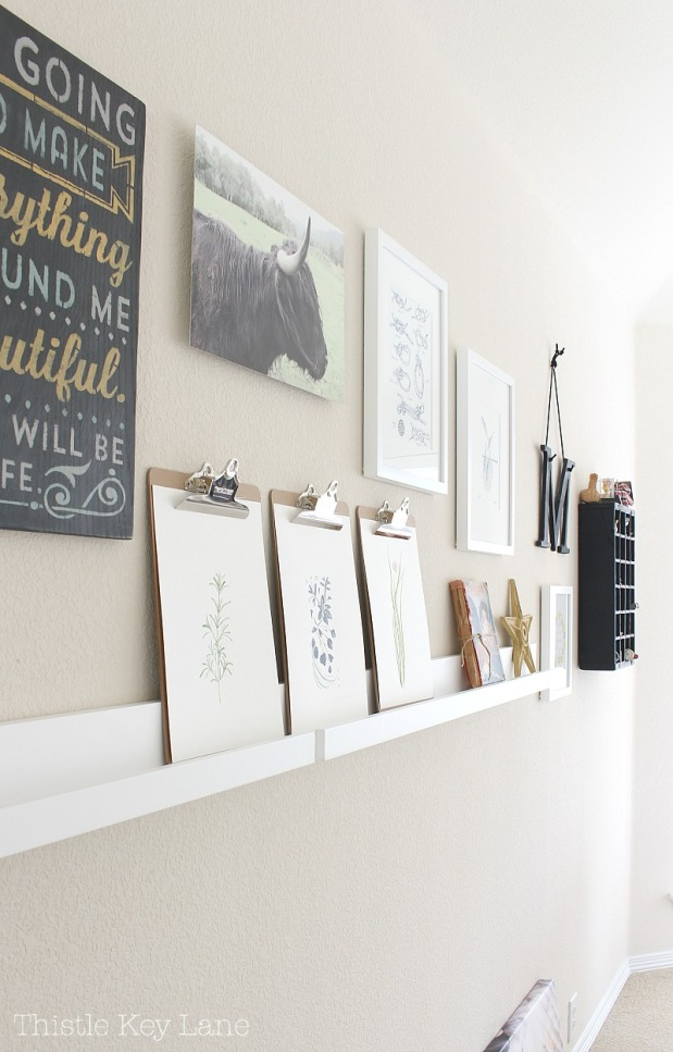Gallery Wall Photos and Watercolor