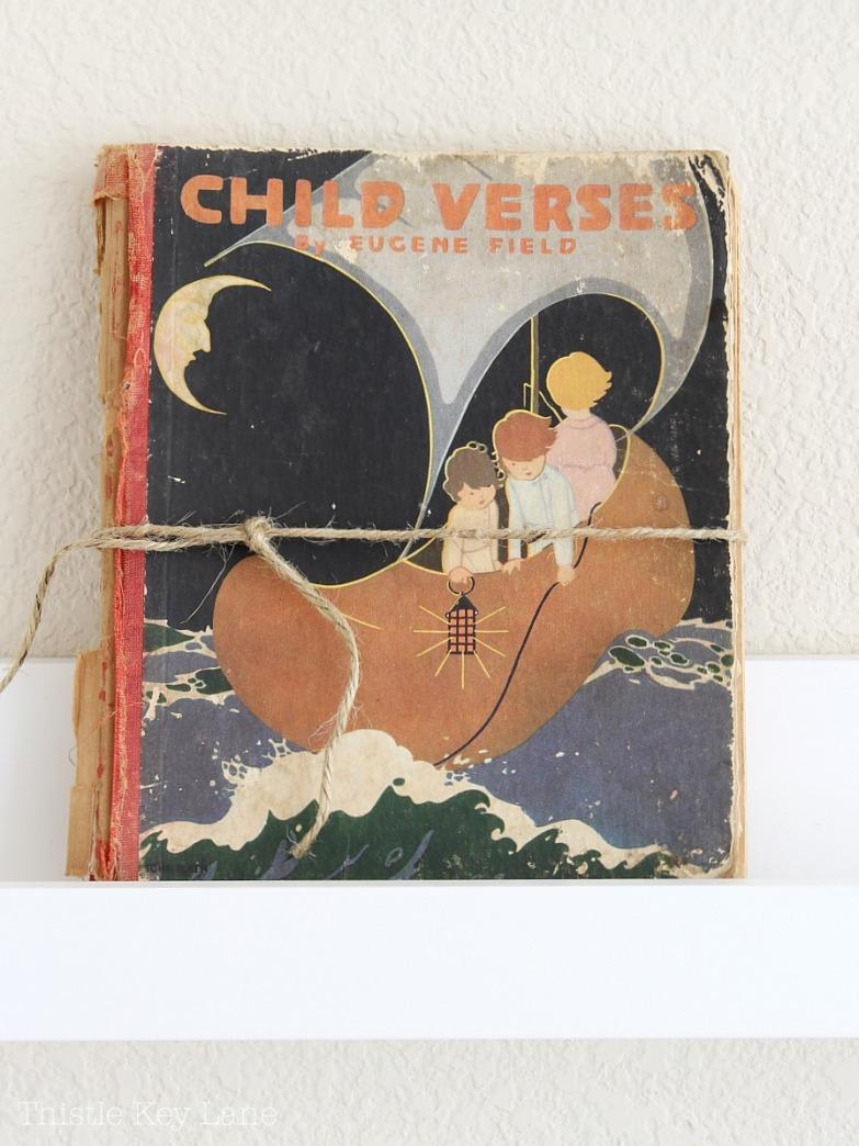 Children's book on display