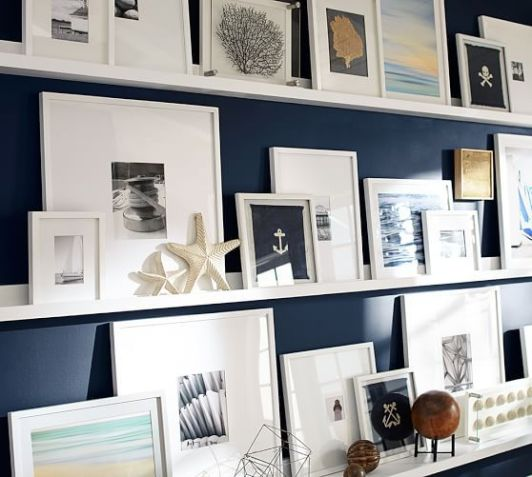 Pottery Barn gallery wall with Holman Ledges
