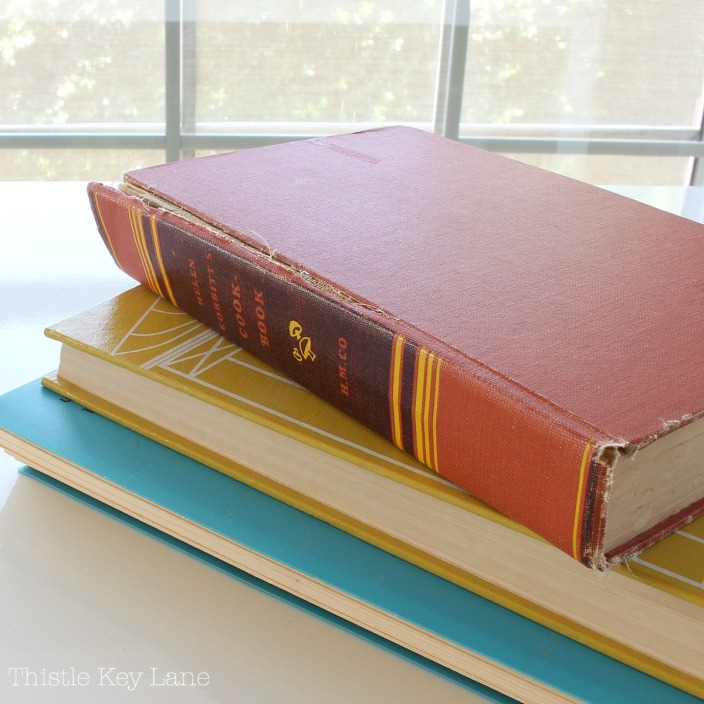 How to make oilcloth covers for old cook books.